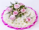 Traditional White Massed Posy Bright Pink and White Code: F13421PS | National and Local Delivery
