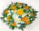 Classic Orange and White Posy Code: JGFF4180WOP | Local Delivery Or Collect From Shop Only