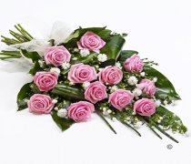 Classic Pink Rose Sheaf Tribute Code: F13491PS | National Delivery and Local Delivery Or Collect From Shop