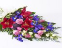 Classic Blue Pink and White Sheaf Tribute Code: F13241MS | National and Local Delivery