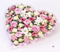 Pink and White Pastel Heart Code: F13431PS | National and Local Delivery