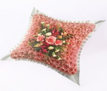 Classic Pink Massed Cushion Code: JGFF920PWC | Local Delivery Or Collect From Shop Only