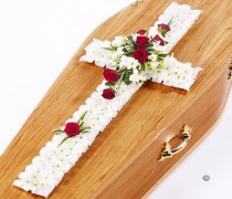 Classic Red and White Cross Code: F13570RS | National and Local Delivery