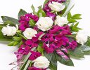 Rose and Orchid Aspidistra Cross Spray Code: F13541MS | National and Local Delivery