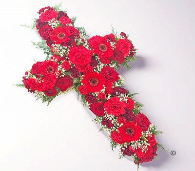 Classic Red and White Open Cross  Code: JGFF16430RWC | Local Delivery Or Collect From Shop Only