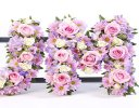 Pink Lilac and White Mum Loose Tribute Code: F13171MS | National and Local Delivery