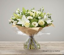 Large White Radiance Sympathy Hand-tied Code: C06982WS | National and Local Delivery