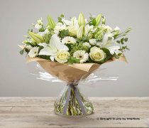 Extra Large White Radiance Sympathy Hand-tied Code: C06983WS | National and Local Delivery