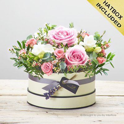 Rose Blush Hatbox Code: JGFC14261PS |  Local Delivery Only