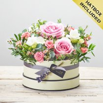 Rose Blush Hatbox Code: C14261PS | National and Local Delivery