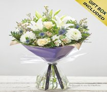 Large Winter Twinkling Whites Hand tied Code: X89812WS | National and Local Delivery
