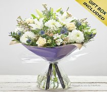 Extra Large Winter Twinkling Whites Hand tied Code: X89813WS | National and Local Delivery