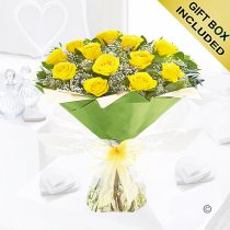 Heavenly Yellow Rose Hand-tied Code: JGFC00451YS | Local Delivery Or Collect From Shop Only