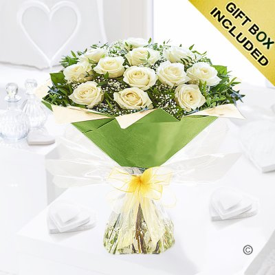 Heavenly White Rose Hand-tied Code: C00451WS