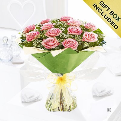 Heavenly Pink Rose Hand-tied Code: C00451PS