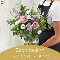 Florist Choice Hand-Tied With Vase Code: JGF-HTV50-VASE2 | National Delivery and Local Delivery