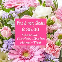 Pink and Ivory Shades Florist Choice Hand-Tied Code: JGFL-PIHT35 | Local Delivery Only