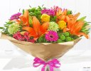 Happy Birthday Vibrant Hand-Tied Code: JGFH20381VHB | Local Delivery