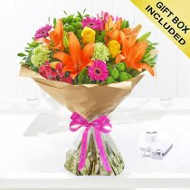 Happy Birthday Vibrant Hand-Tied Code: JGFH20381VHB | Local Delivery Or Collect From Shop Only