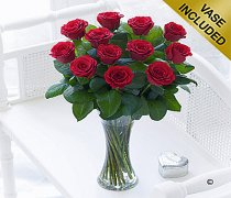Elegant Red Rose Vase Code: C00461RS