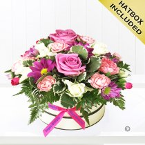 Happy Birthday Pretty Pink Hatbox Code: JGFH2514BHB | Local Delivery Or Collect From Shop Only