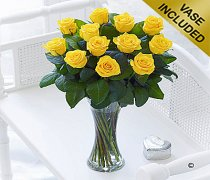 Elegant Yellow Rose Vase Code: C00461YS