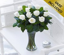 Elegant Ivory Rose Vase Code: C00460IS