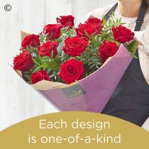 12 Red Rose Hand-tied Code: RROHT12 | National Delivery and Local Delivery Or Collect From Shop