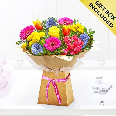 Happy Birthday Spring Brights Gift Box Code: JGFS33411HBSB | Local Delivery Or Collect From Shop Only