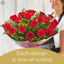 Valentine's 18 red rose hand-tied Code: V18RRHT | National Delivery and Local Delivery Or Collect From Shop