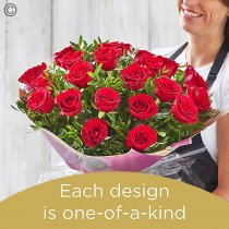 Valentine's 24 red rose hand-tied Code: V24RRHT | National Delivery and Local Delivery Or Collect From Shop