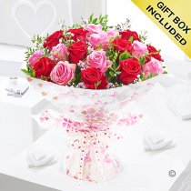18 raspberry pink hugs and kisses Code: JGF42418PR | Local Delivery Or Collect From Shop Only