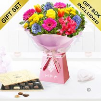 Mother's day just for you gift box with chocolates Code: JGFMD3241GBC | Local delivery or collect from shop only