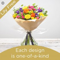 Spring lily free hand-tied bouquet Code: SLFHTU2 | National delivery and local delivery or collect from shop