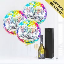 Happy birthday prosecco and balloon celebration gift Code: JGFH4CPHB | local delivery or collect from shop only