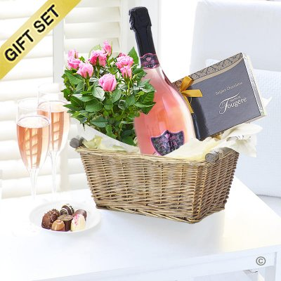 Luxury Nua Sparkling Rosé Gift Basket  Code: JGFC0307SRG | Local Delivery Or Collect From Shop Only