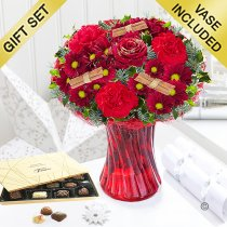 Christmas Wish Vase with Luxury Chocolates Code: JGFX90044CWC