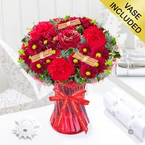 Merry Christmas Wish Vase Code: JGFX90047CW | Local Delivery Or Collect From Shop Only