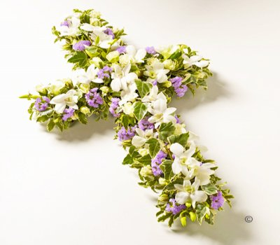 Petite Lilac and White Cross  JGFF91341PLC  | Local Delivery Or Collect From Shop Only