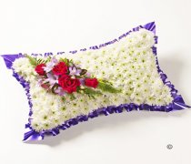 Classic Cerise and Purple White Massed Pillow Code: JGFF512CPP