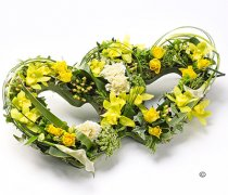 Double Yellow and Green Open Heart Code: F13131YS | National and Local Delivery