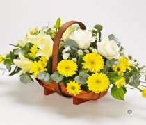 Lemon & Cream Basket  Code: TR101