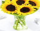 Sunflower Sunburst Vase Code: JGFSU54879SS | Local Delivery Only / Collection in Shop Only