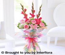 Summer Gladioli, Lily and Rose Hand-tied Code: H63121PS