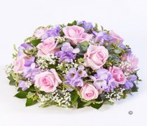 Rose and Freesia Posy Pink and Lilac Code: F13410PS | National and Local Delivery