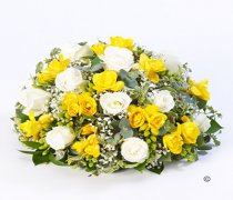Rose & Freesia Posy Yellow & White Code: TR139 YW