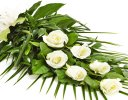 Simple White Rose Sheaf Code: F13511WS  | National and Local Delivery