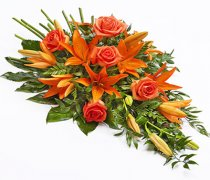 Rose & Lily Spray Code: TR155 Orange & Green