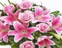 Pink Rose & Pink Lily Spray Code: Code: F13650PS
