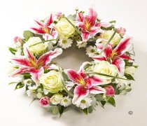 Rose & Lily Wreath Code: TR158